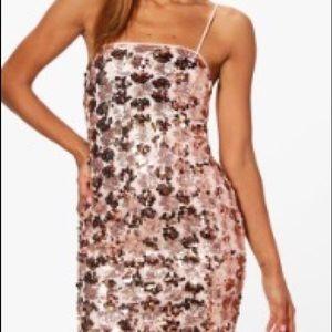 Boohoo Boutique Frey's Sequin Cami Bodycon Dress